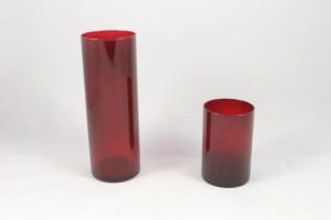 bicchieri vetro rosso