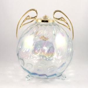lampada in cristallo con ali dorate