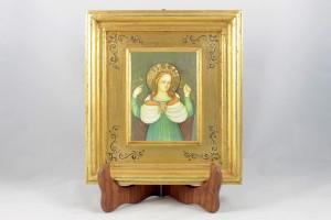 Pictografia su legno, gesso colato e foglia oro, Beata Vergine delle Grazie.