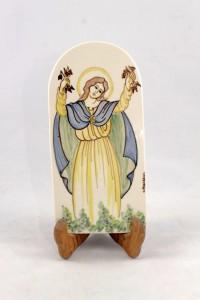 Piastrella in Ceramica di Faenza raffigurante la Madonna delle Grazie Patrona di Faenza.