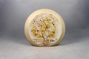 Quadro stondato appendi chiavi con albero della vita.