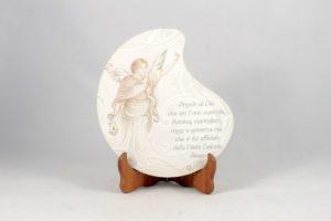 Quadro angelo custode con preghiera Angelo di Dio.