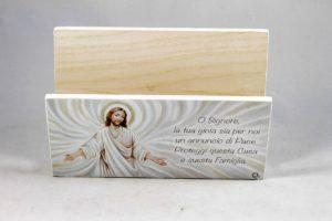 Quadro porta lettere ed appendi chiavi Gesù e preghiera.