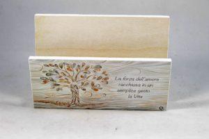 Quadro porta lettere ed appendi chiavi albero della vita e preghiera.