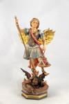 Statua San Michele Arcangelo in legno di Ortisei.
