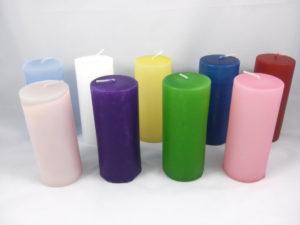 Ceri colorati diametro 6,5 cm x altezza 15 cm