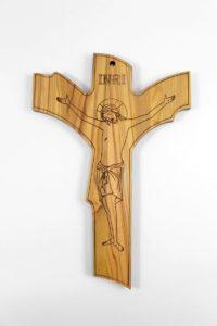 Crocifisso in legno di ulivo
